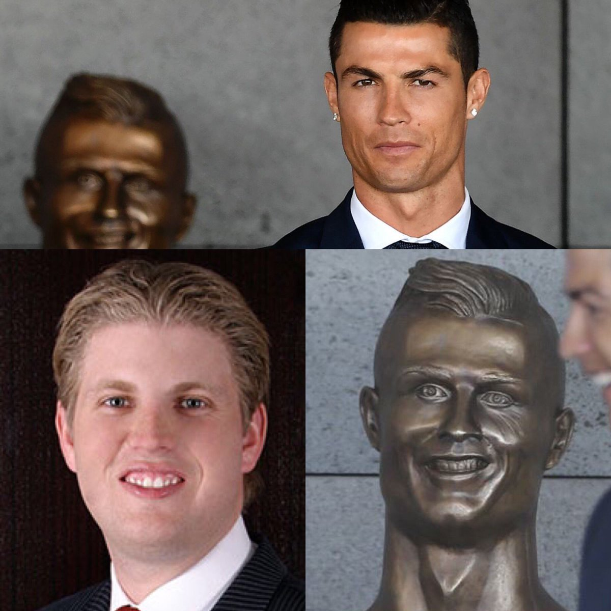 I believe there's been a huge mistake made on the new bust of Cristian...
