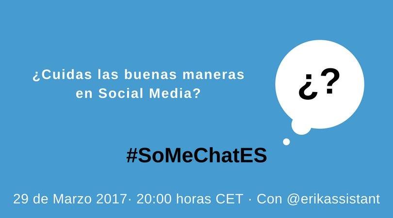 Y ahora sí empezamos con las preguntas #SoMeChatES https://t.co/IXiPcegvua