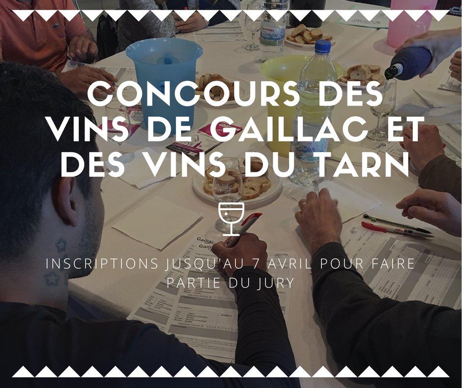 Rejoignez le jury de la 38ème édition du #Concours des #Vins de #Gaillac &amp; des Vins du #Tarn ! maison@vins-gaillac.com ou au 05 63 57 15 40.<br>http://pic.twitter.com/6icMBXV7UR