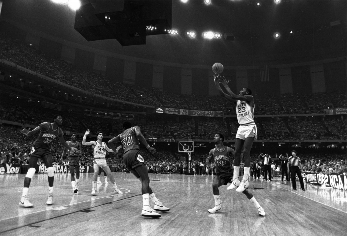 35 years ago today, Carolina beat Georgetown for Dean Smith&#39;s first NCAA championship. #GoHeels  <br>http://pic.twitter.com/WYHhM96TRp