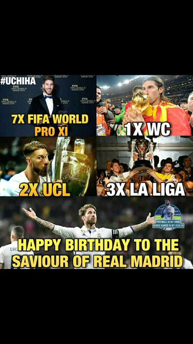 Happy Birthday to The Heartbeat of Real Madrid, one and only Mr.92:48  Sergio Ramos