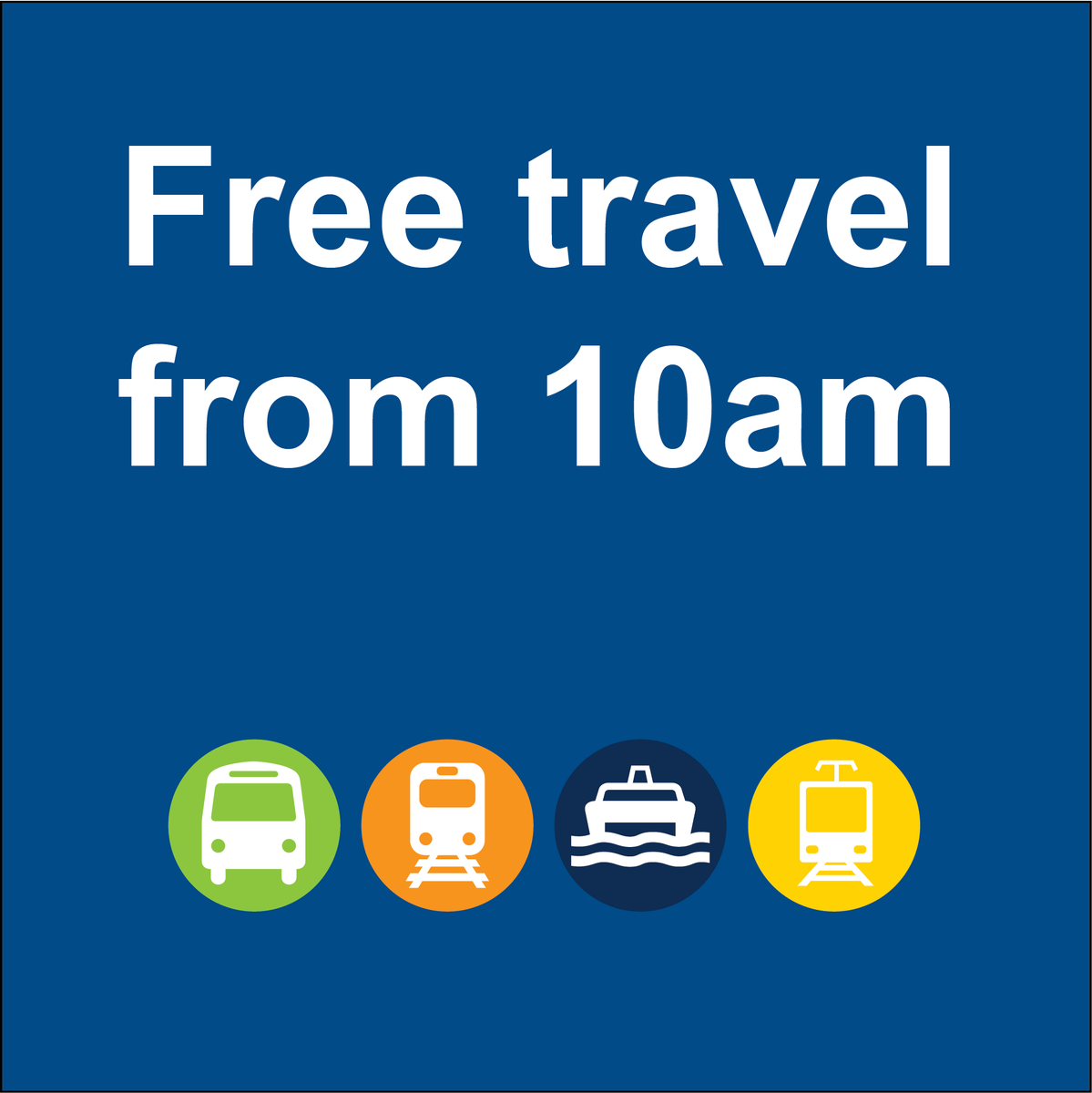 Free travel after 10am today for #bigwet. Don't touch on. More info ht...