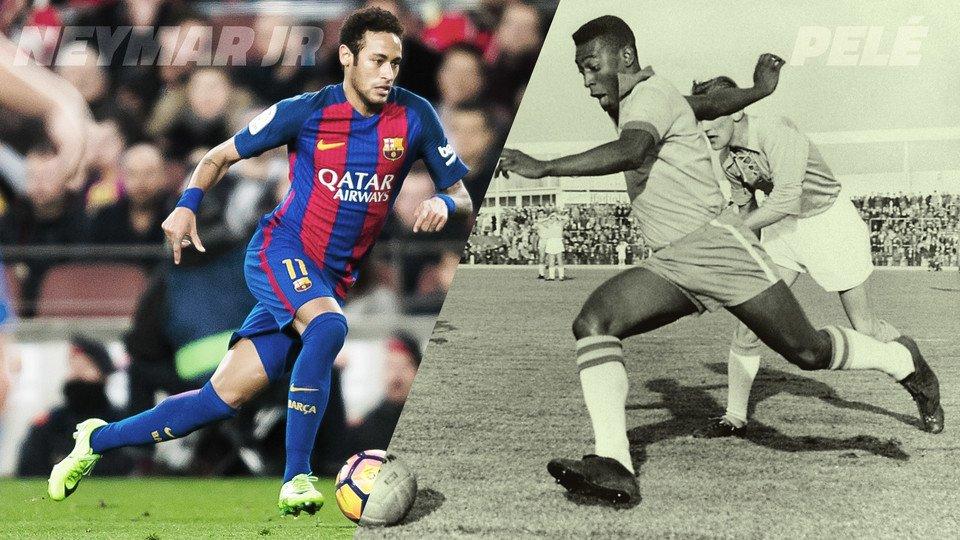 🔝 Neymar Jr iguala los registros de Pelé a los 25 años ¿Cuántos goles...