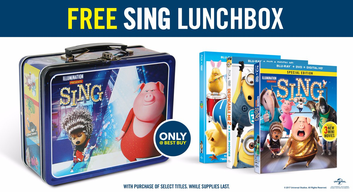 Get a collectible @SingMovie lunchbox FREE with the purchase of a sele...