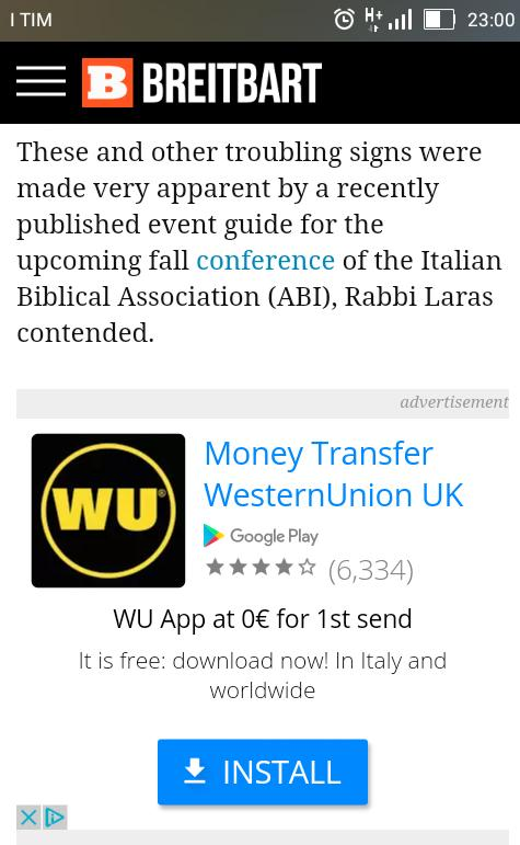 @WesternUnion seems vs.ad appear on #fakenews racist #hatespeech breit...