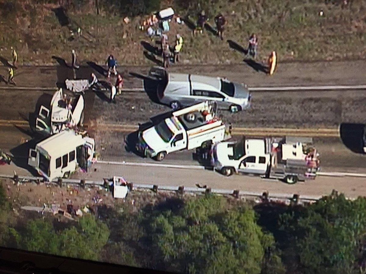 #Chopper5 over fatal accident on Hwy 83 Just South of Garner State Par...