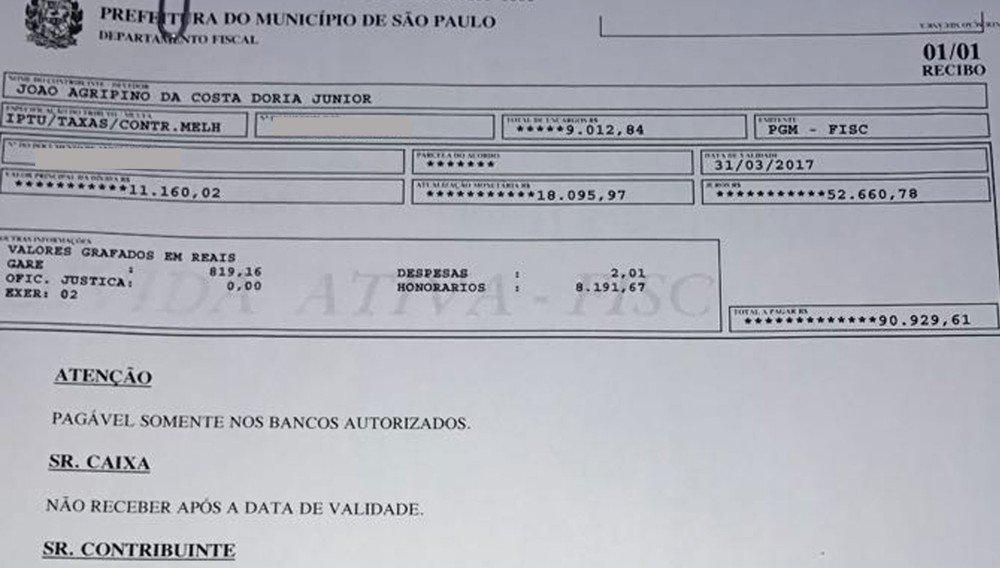 Doria tem dívida de R$ 90 mil de IPTU de mansão nos Jardins; Prefeitura de SP diz que boleto será pago https://t.co/wwgxeCknul