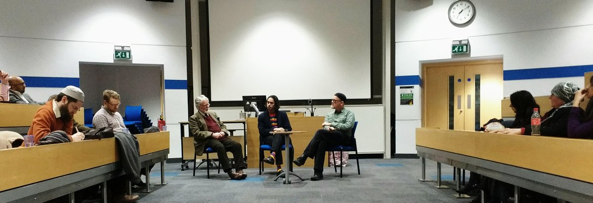 Yahya Birt In Conversation With Abdalhaqq Bewley And Ahmed Peerbux At The Screening Of Blessed Are Strangers MuslimsInBritRN LeedsTRS
