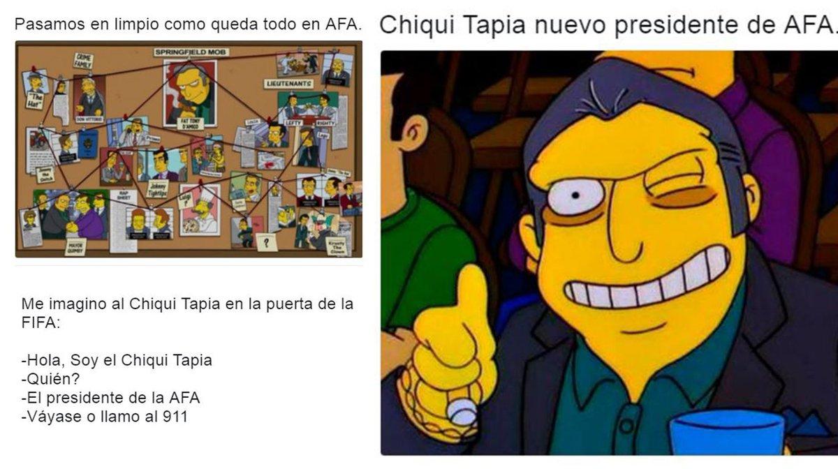 Chiqui Tapia asumió en la AFA y en redes sociales lo reciben con humor...