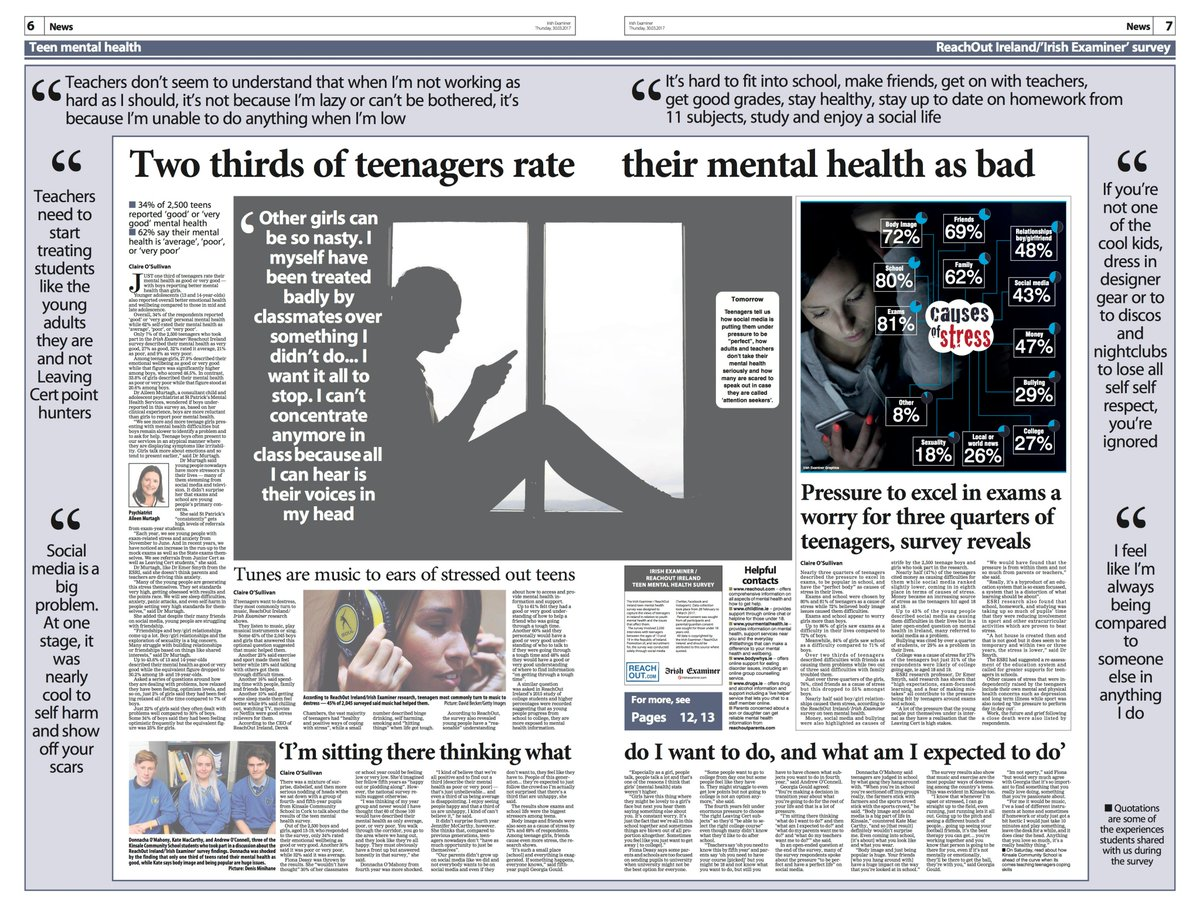 More from worrying teen mental health survey @irishexaminer and  @ReachOutIRL have done.