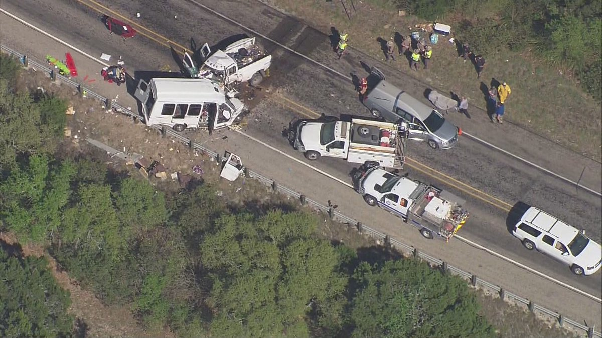 DPS: 12 dead, 3 injured in head-on crash involving church bus & pi...