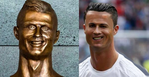 I don't what you're all talking about, that #RonaldoBust looks fine ht...