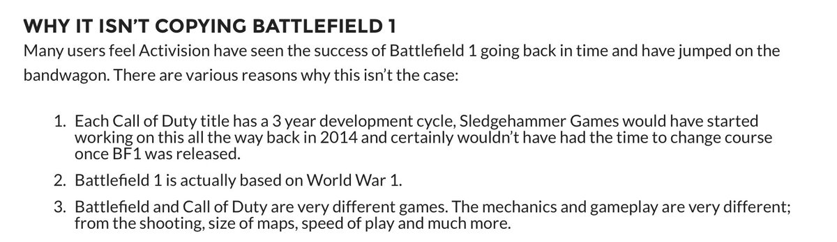 """CoD WW2 Beta on Twitter: """"Why Activision did not copy Battlefield 1 with #CoDWWII Full article > https://t.co/Eg6PEVLTfZ https://t.co/TbbC5q3qkK"""""""