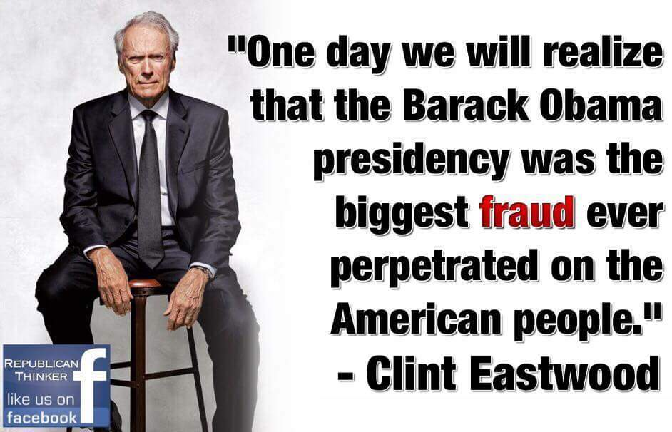 We are finding out Obama was as big a fraud as Clint Eastwood predicted, even spying on Trump.  #MAGA #FoxNews<br>http://pic.twitter.com/gHQrjjTAt3