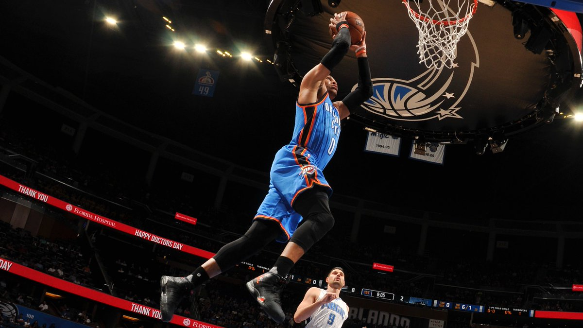 Another #MVP night for Russell Westbrook.   57p-13r-11a.   Most points...