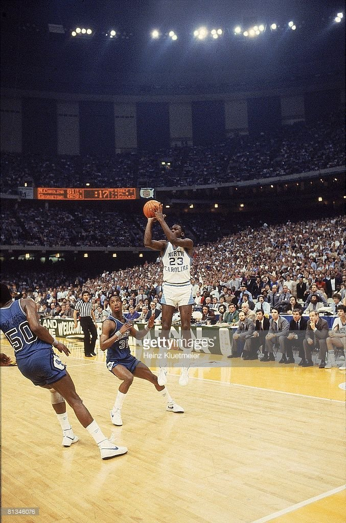 35 yrs ago tonight, Jordan&#39;s jumper in the final seconds gave @UNC its first title since 1957 #GoHeels   See more   http:// gtty.im/2nxk1zb  &nbsp;  <br>http://pic.twitter.com/IwnrEHITcD