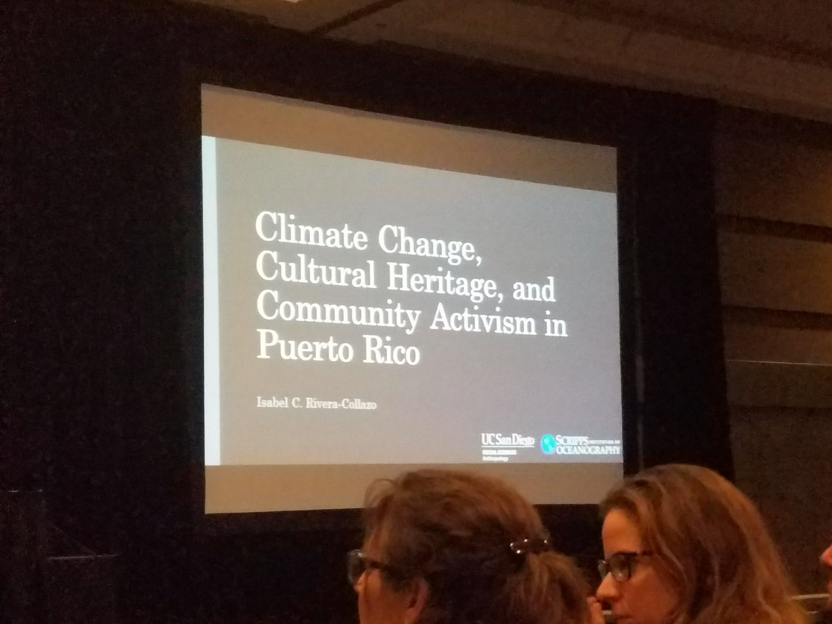 Climate Change Cultural Heritage and Community Activism in Puerto Rico #SAA17 #ClimateChange #Archaeology<br>http://pic.twitter.com/5gUCKJ3RVd