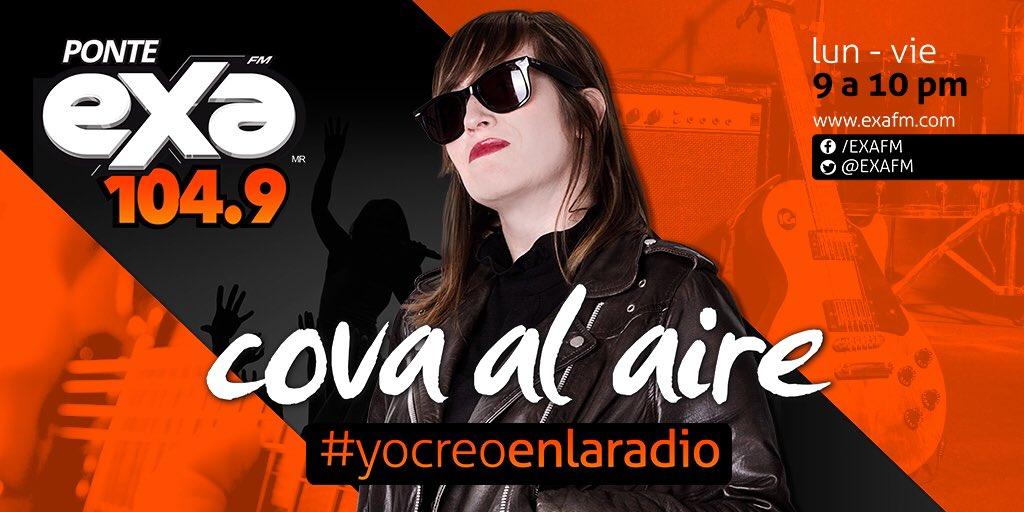 Recibamos a @Cova 👏🏻 Ya estamos en el 104.9 FM y el HT #CovaAlAire ✌🏻...