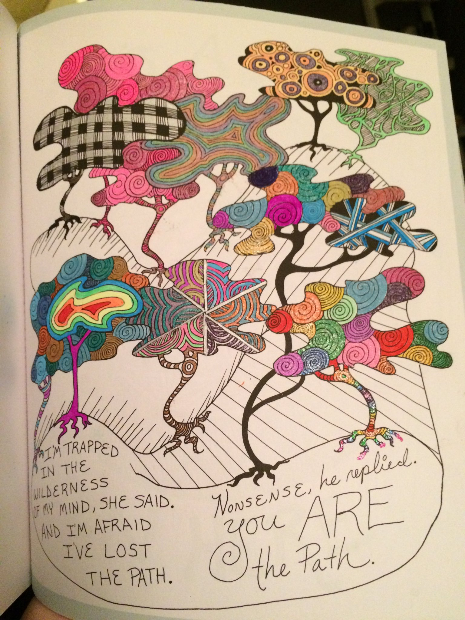 #3 dive into @TheBloggess #youarehere and I think I'm in love with my gel pens https://t.co/TtfT7suI4J