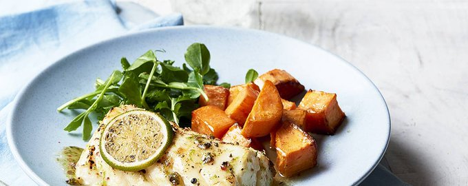 Glazed cod loin with butternut squash recipe
