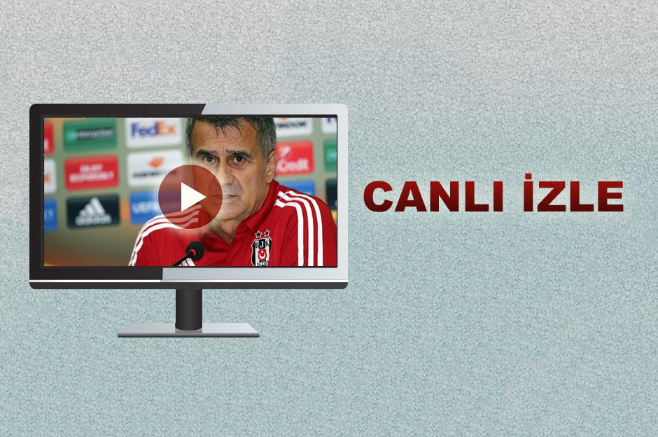Beşiktaş Teknik Direktörü Şenol Güneş basın toplantısı düzenliyor  Can...