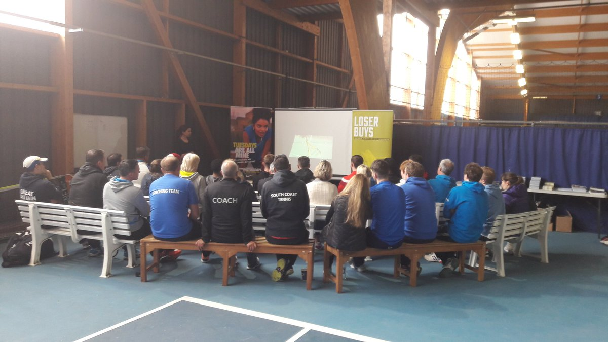 Last day of #advantage + #tennistuesdays coach training. Packed house @tennisBTC @BritishTennis #growthegame<br>http://pic.twitter.com/fBxqa2gJ6N