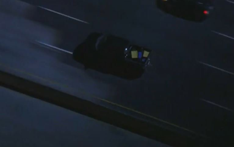 UPDATE: Driver in #pursuit winds through Studio City, then gets onto W...