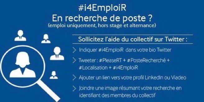 #emploi Vous cherchez un job ? #i4emploiR Ça marche ! Rappel de la méthode et les demandes à RT : RDV sur @i4Emploi #i4emploi @Alban_Jarry<br>http://pic.twitter.com/CROaYOwY26