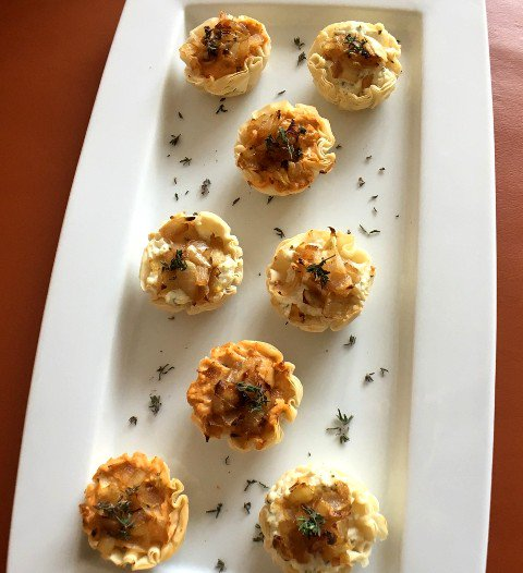 Caramelized Onion & Goat Cheese Tartlets