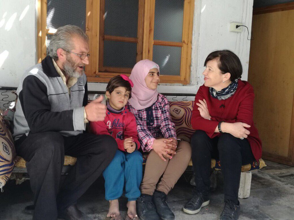 Good to see a family back in their own home #Homs. But so many forced...