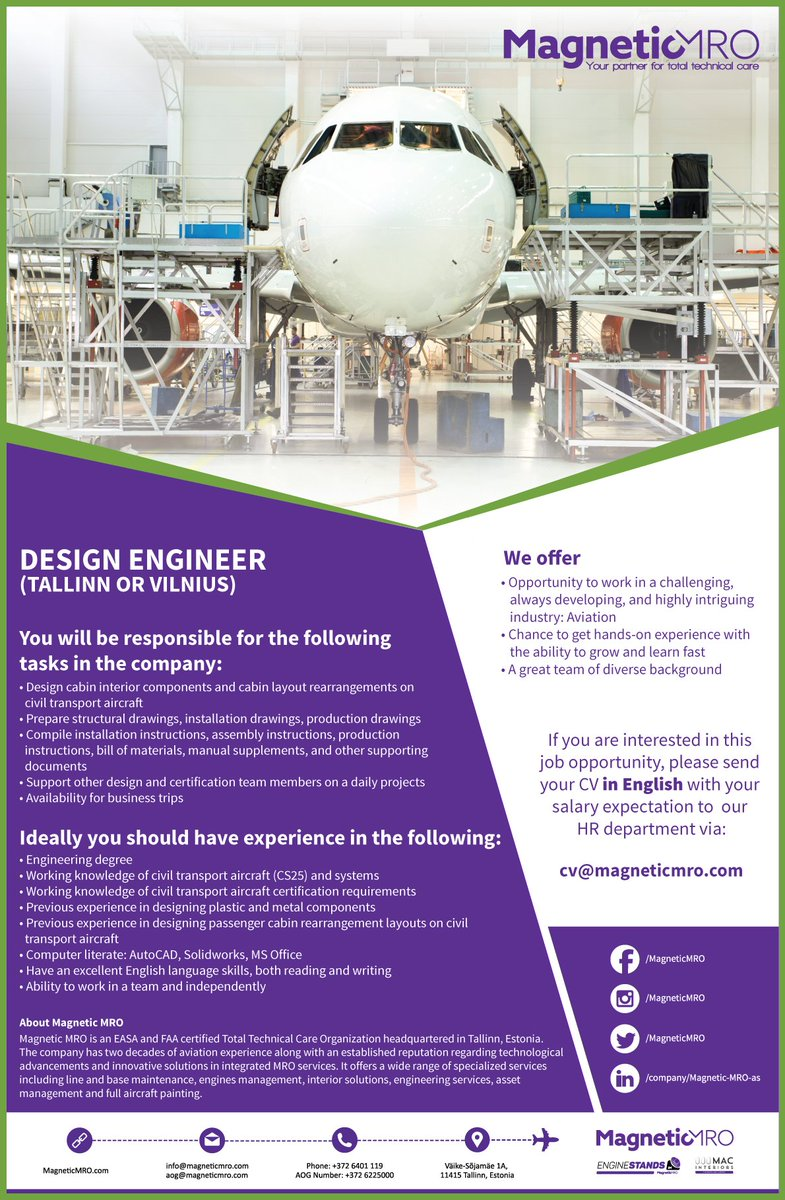 Social Magneticmro Com On Twitter We Re Looking For A Design Engineer To Join Our Growing Team Of Aerospace Engineers Https T Co 996zbhjdtd Avjobs Aerospacejobs Https T Co 19fgtyfeuh