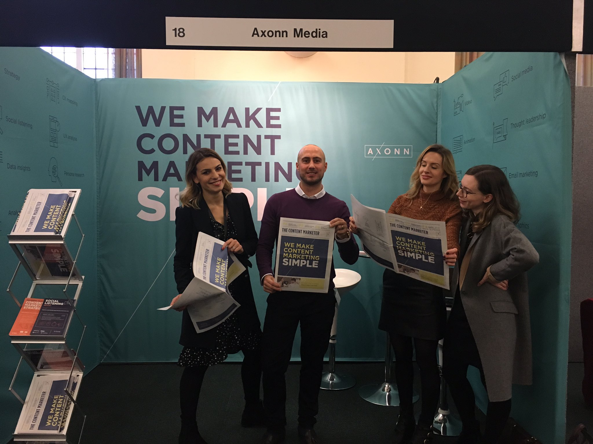 Stand 18 is where it's at! Come say hi to the @AxonnMedia team! #OiConf https://t.co/O981mL8pzV