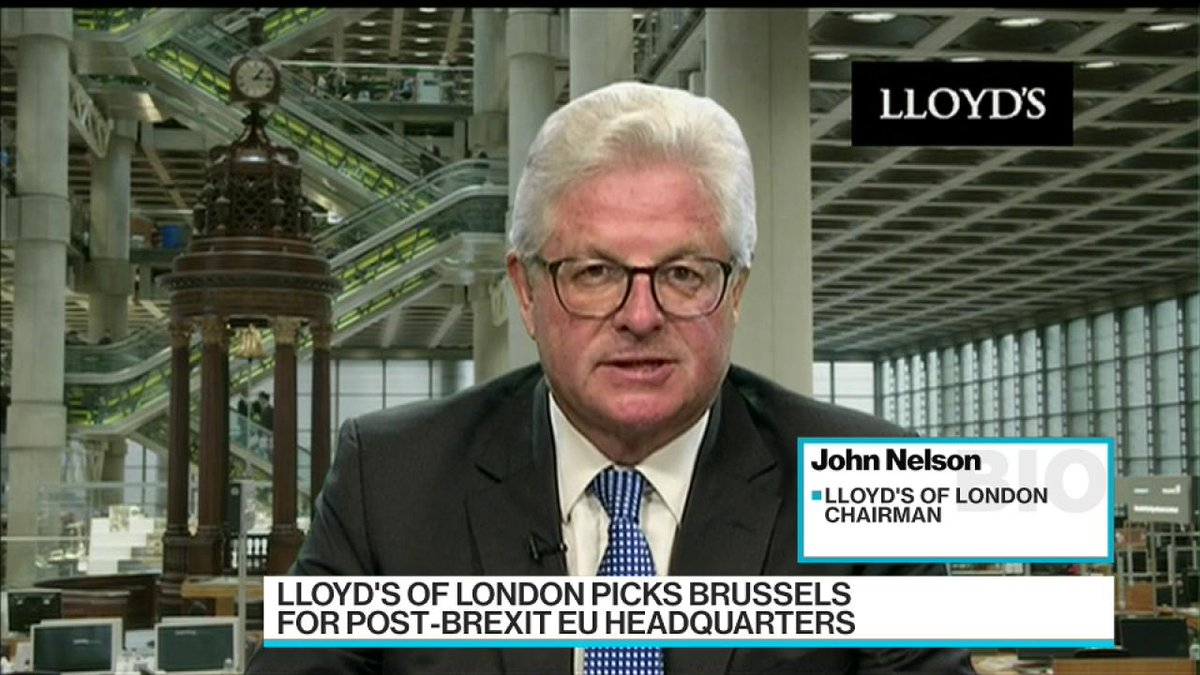 Important that @LloydsofLondon is 'at the heart of the EU,' chairman s...