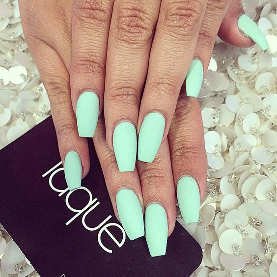 "Carbon Beauty On Twitter: ""Matte Mint #nails #inspiration…"