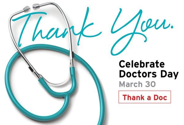 It's #NationalDoctorsDay, please RT for those healthcare workers that...