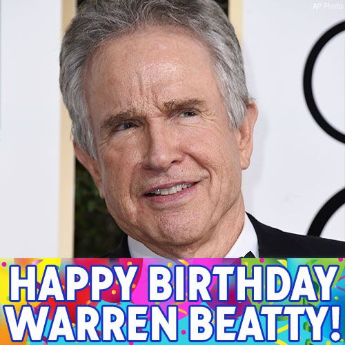 Happy Birthday Warren Beatty! The Hollywood icon turns 80 today!
