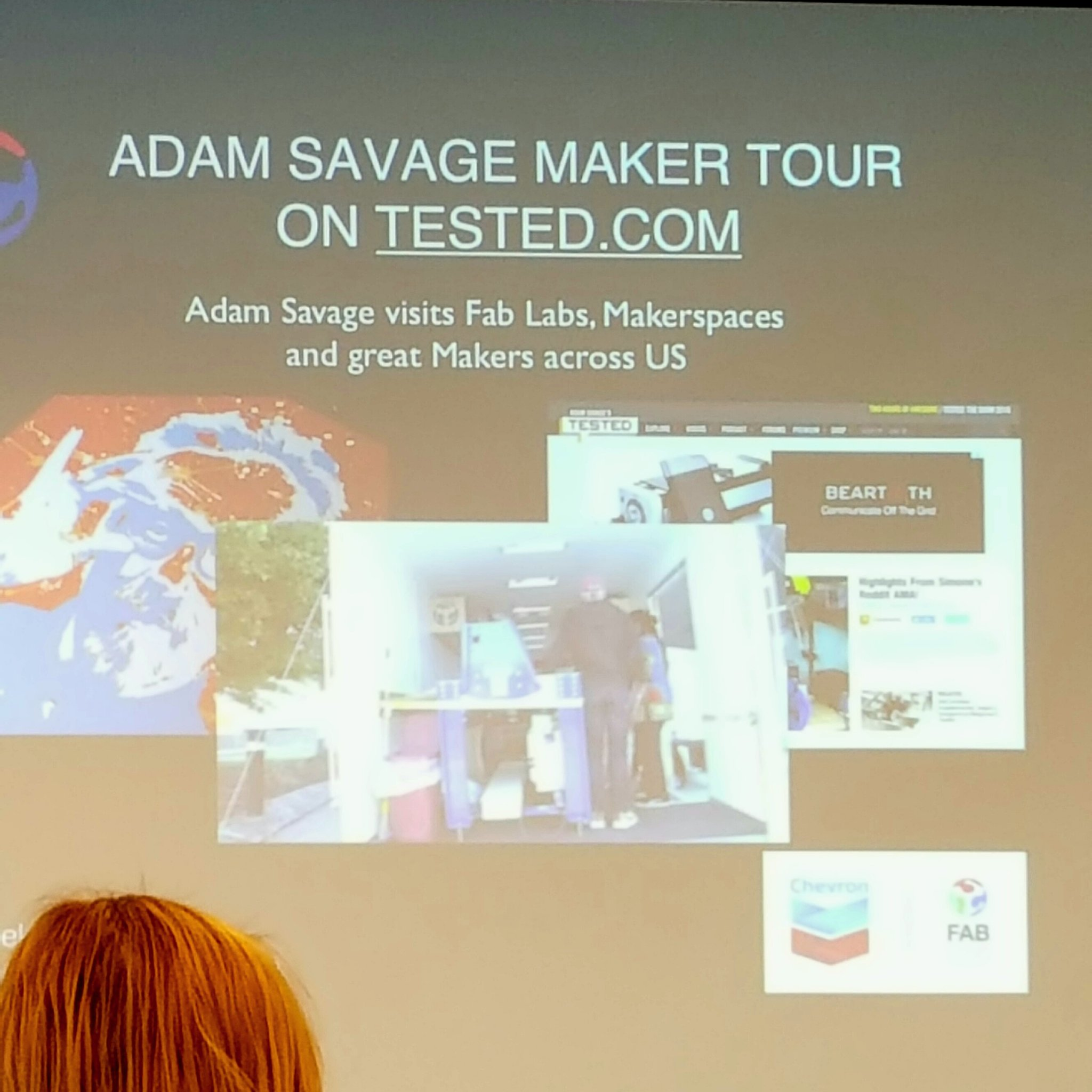 Heard about Adam Savage's new show visiting Maker Spaces at #digifabcon. Lots more info at conference! https://t.co/hBRfgLnurH