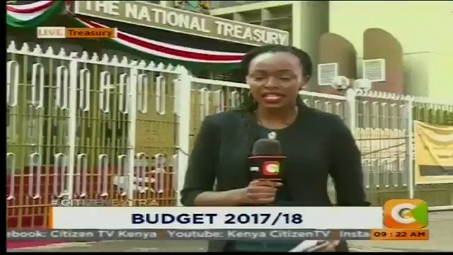 Budget estimates- Kshs. 2.62 Trillion , #BudgetKE2017/18 with @MumbiWa...