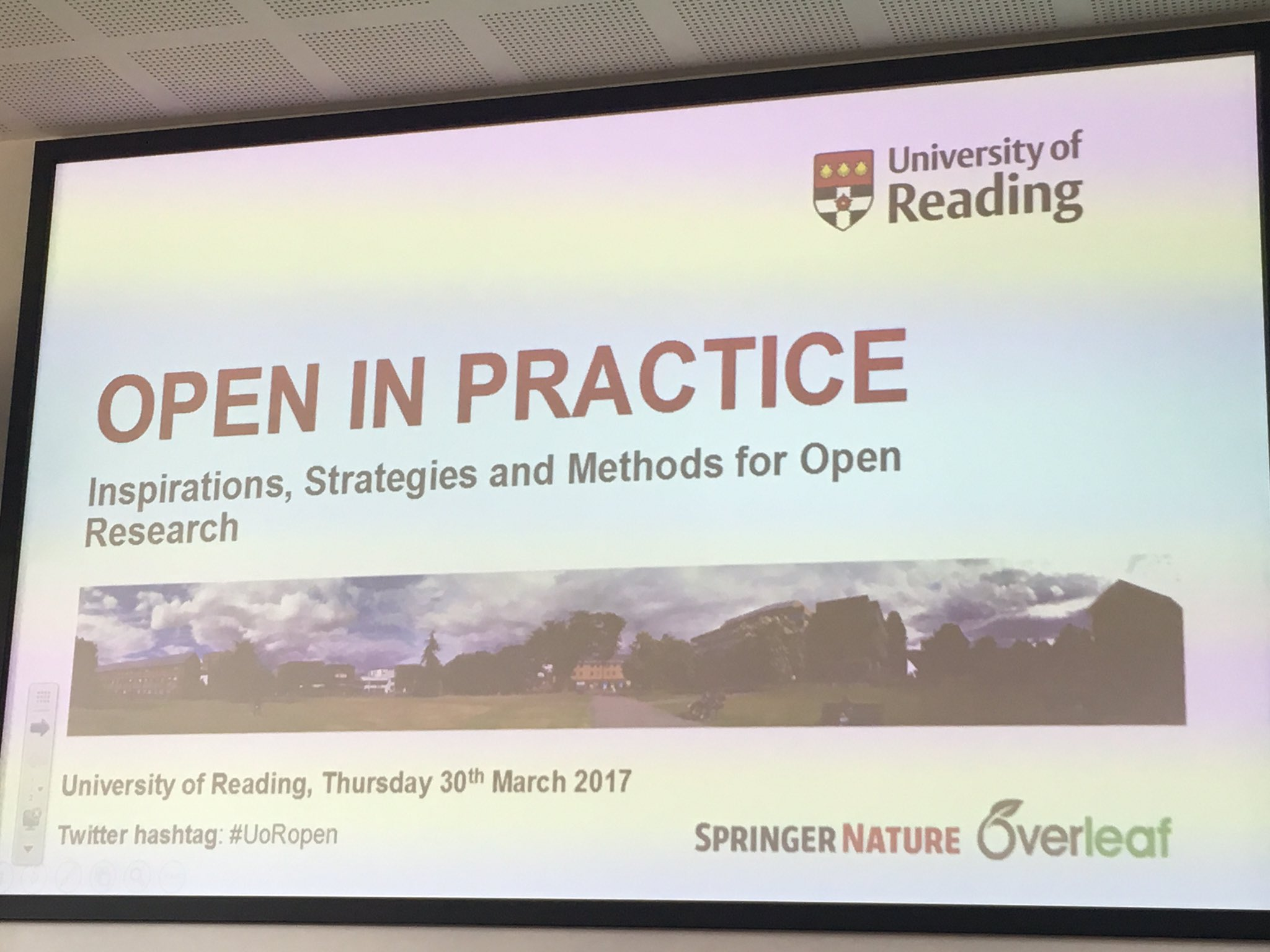 Start of #UoRopen @UniRdg_Research https://t.co/fnYKTVwcDJ
