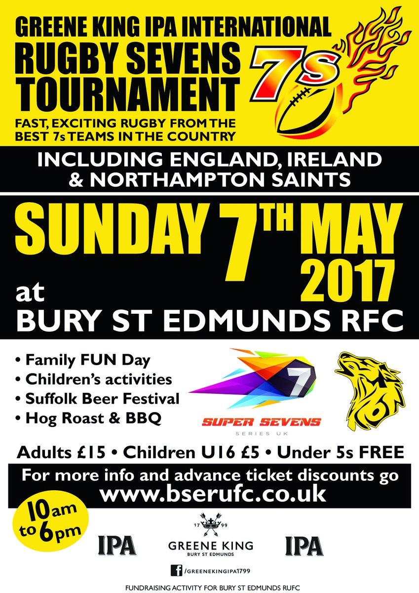 Spread the word... World class Intl & Premiership rugby 7s teams @BSERugby on 7thMay2017 #GKIPA7s @S7SRugby PLS RT. 100 RT=free drink https://t.co/7sQCHvJjvS