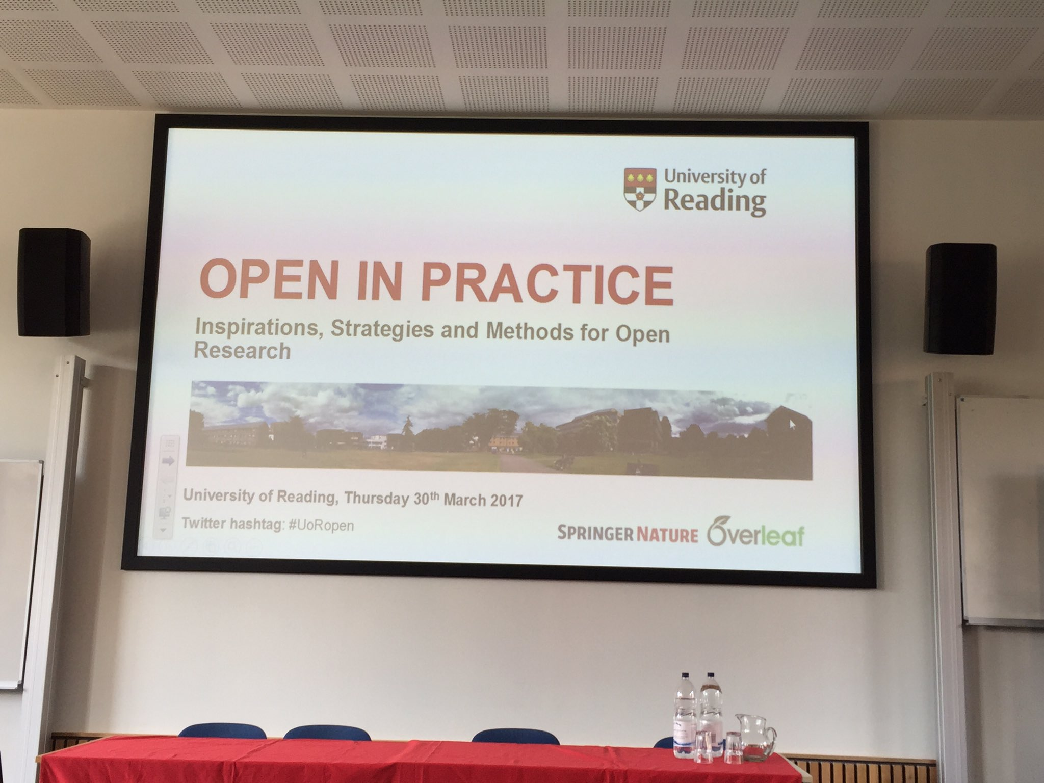 "Looking forward to hearing more about ""open research"" today at the @UniofReading #UoRopen https://t.co/oWCKVp8h3B"