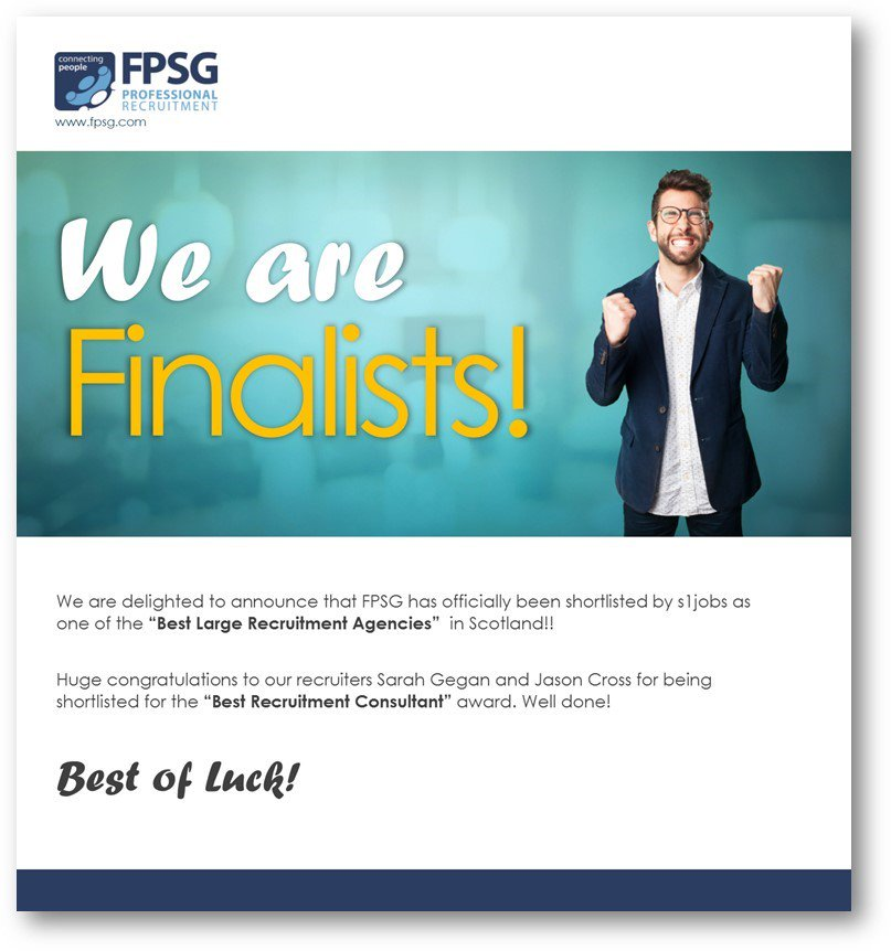 #FPSG have been shortlisted for Best Large Recruitment Agency at the #S1awards #Woohoo <br>http://pic.twitter.com/rdEVzbvytR