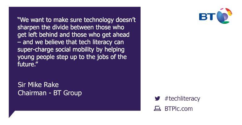 Our Chairman Sir Mike Rake #TechLiteracy https://t.co/mMg5NWZ0Rt