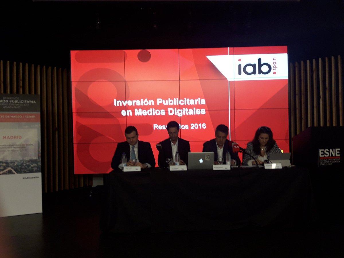 .@IAB_Spain presenta el 'Estudio de Inversión Publicitaria en Medios D...