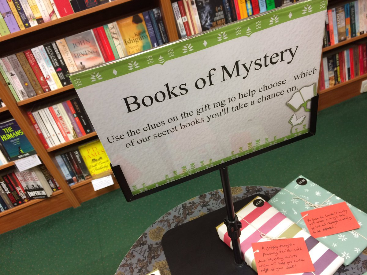 Very excited for my mystery book @Waterstones #Chesterfield -what an f...