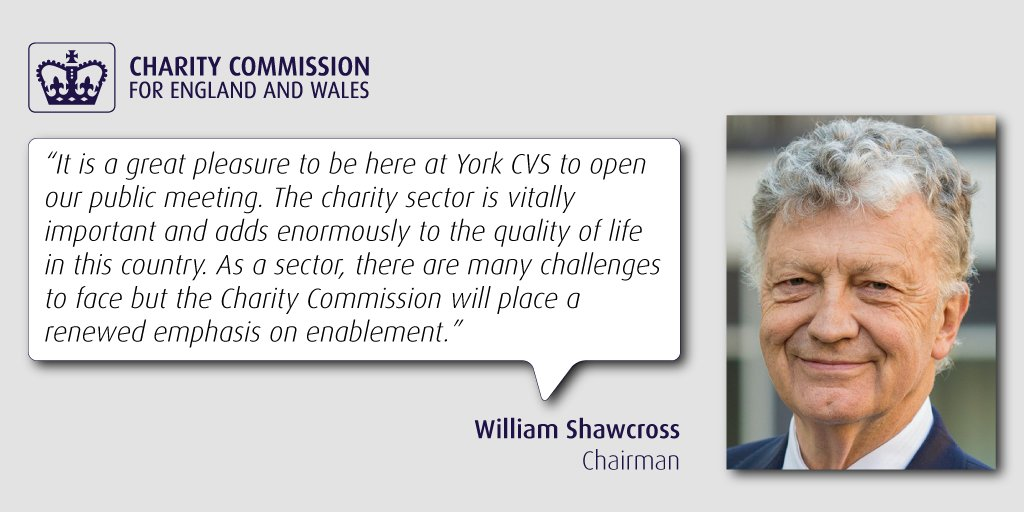 William Shawcross @ChtyCommission opens today's public meeting @YorkCV...