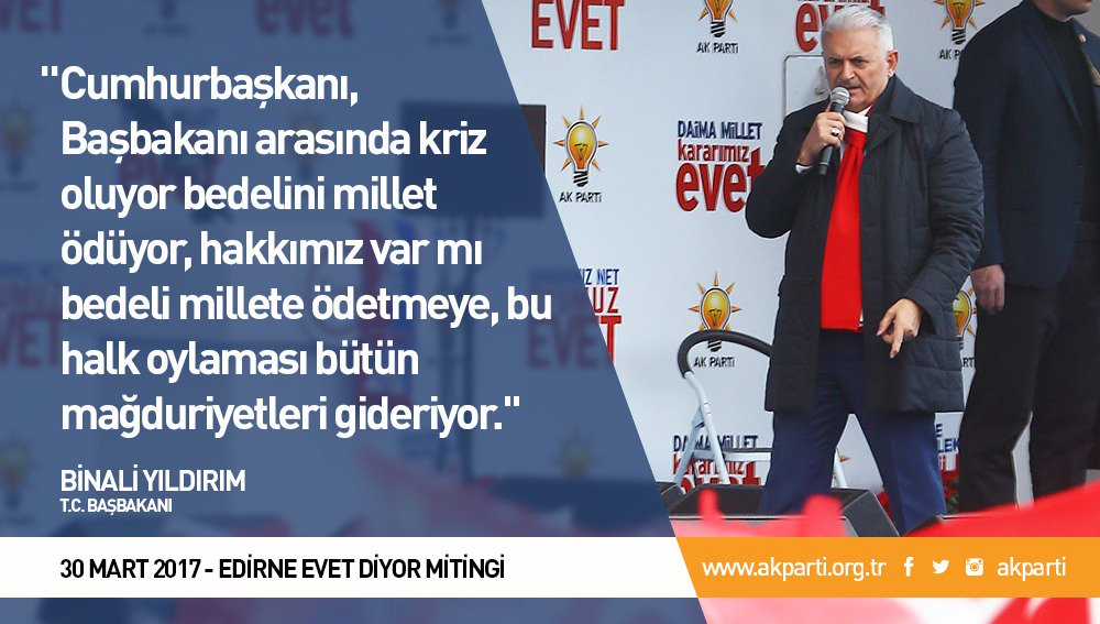 'Bu halk oylaması bütün mağduriyetleri gideriyor.' #EdirneEVETdiyor ht...