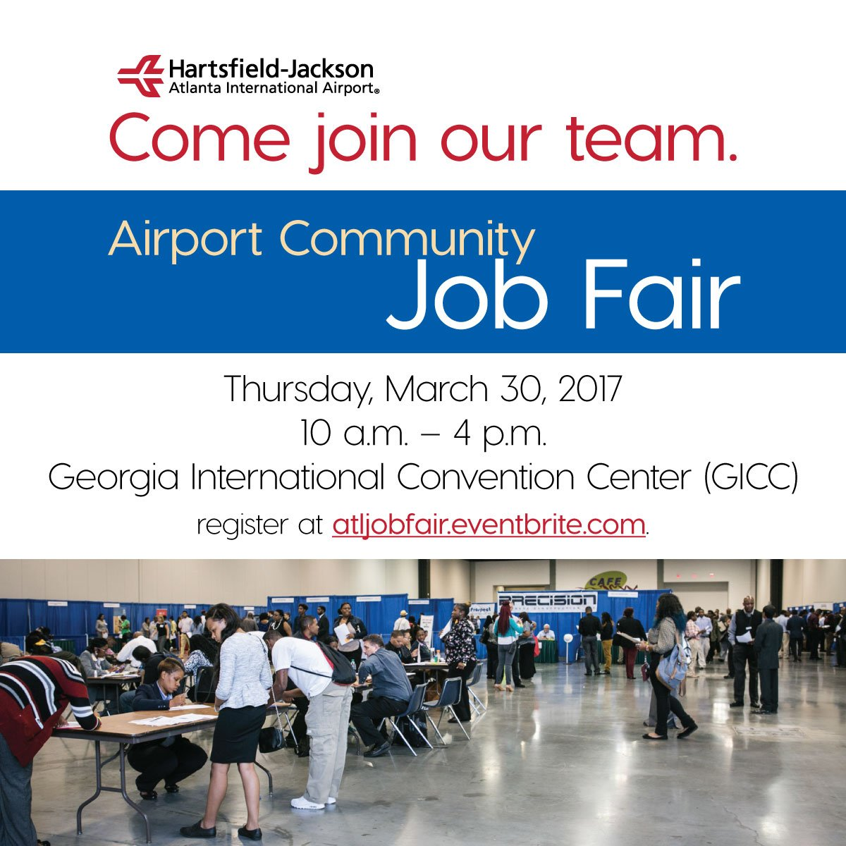 atlanta airport on twitter today join us at our first job fair of 2017 with 1 000 positions up for grabs be part of the team at the world s busiest