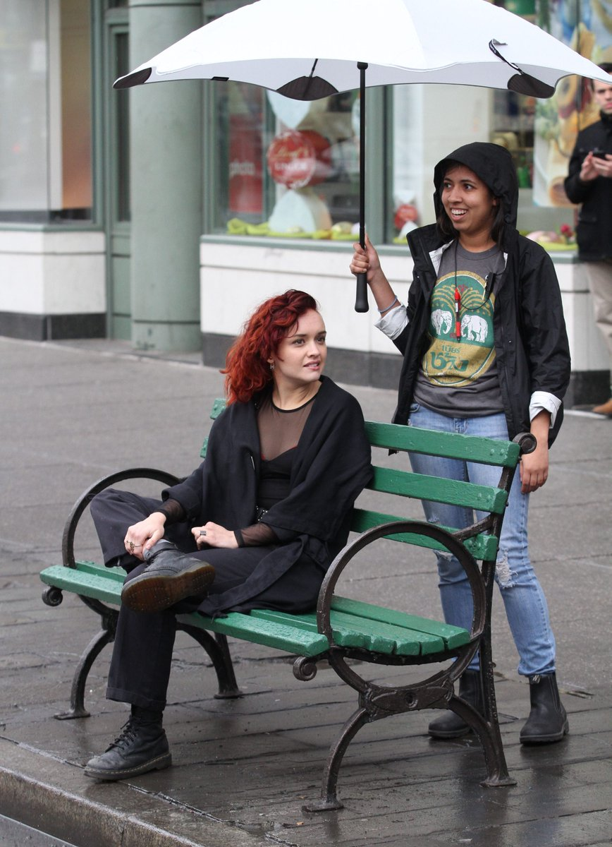 Watch Olivia cooke on location for life itself in nyc video