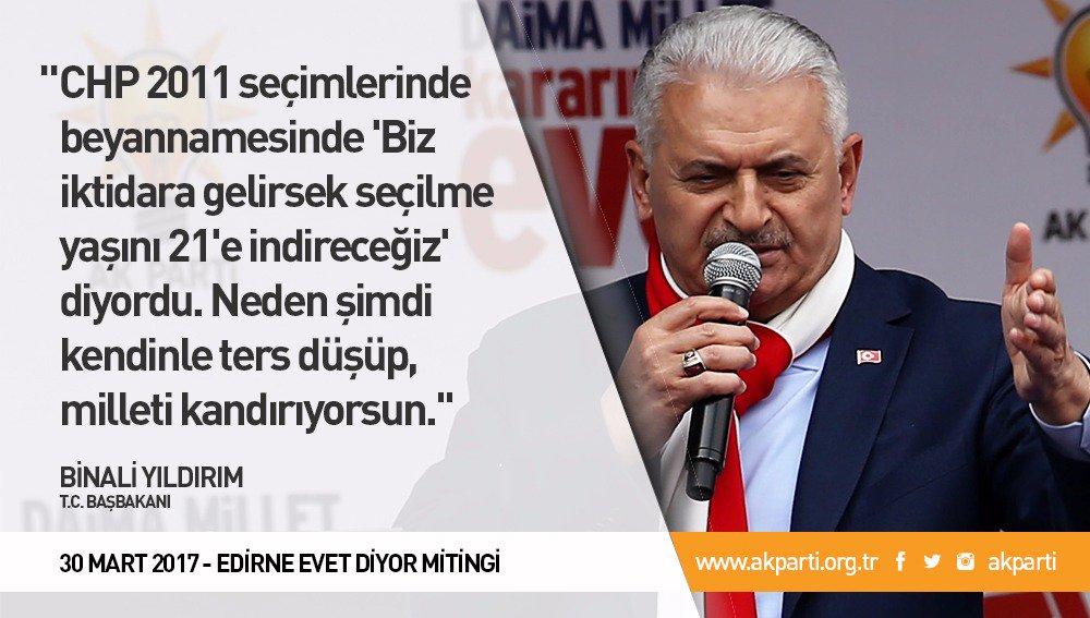 'CHP neden şimdi kendinle ters düşüp, milleti kandırıyorsun.'  #Edirne...